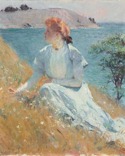 Margaret Gretchen Strong, c.1909-Frank Weston Benson-Giclee Print