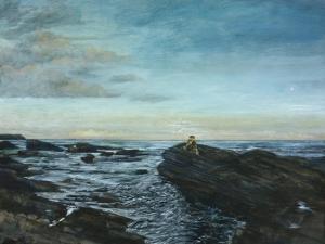 Sarah at Lunan Bay, 1998 by Margaret Hartnett