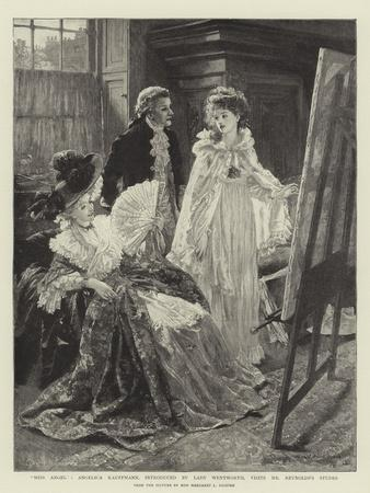 Miss Angel, Angelica Kauffmann, Introduced by Lady Wentworth, Visits Mr Reynolds's Studio
