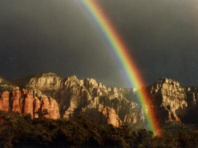 Rainbow over Crimson Cliffs, Sedona, Arizona, USA
