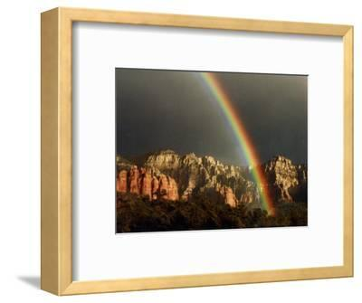 Rainbow over Crimson Cliffs, Sedona, Arizona, USA