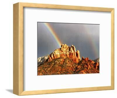 Rainbow over Snoopy Rock, Sedona, Arizona, USA