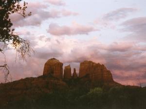 Sunset Sky over Cathedral Rock, Sedona, Arizona, USA by Margaret L. Jackson
