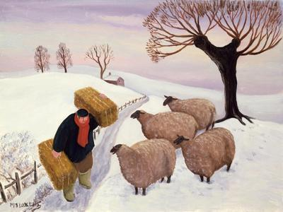 Carrying Hay to the Sheep in Winter