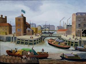Entrance to Regent's Canal Dock by Margaret Loxton