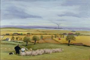 Sheep Farmer, Isle of Sheppey by Margaret Loxton