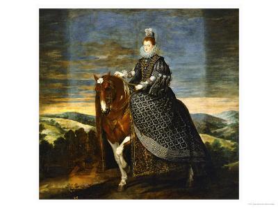 Margarete of Austria (1584-1611), Wife of Philip III, on Horseback, 1636-Diego Velazquez-Giclee Print