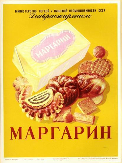 Margarine - with Bread and Cookies--Art Print
