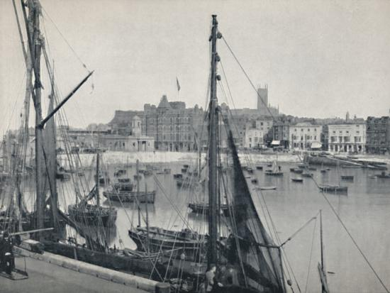 'Margate - The Harbour and the Jetty', 1895-Unknown-Photographic Print