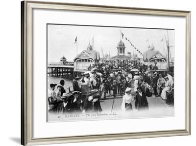 Margate - the Jetty Extension, C.1880S-90s--Framed Photographic Print