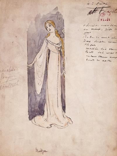 Margherita, Costume Sketch Created by Marcel Multzer--Giclee Print