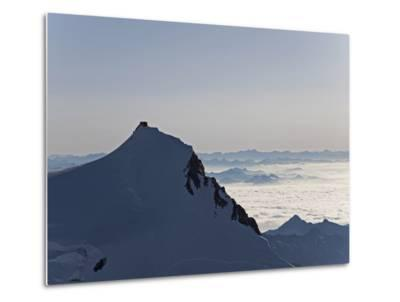 Margherita Hut on Punta Gnifetti at 4554 M, Monte Rosa, Piedmont, Italian Alps, Italy, Europe-Angelo Cavalli-Metal Print