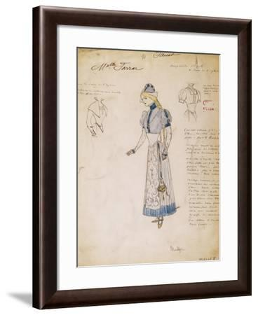 Margherita, Sketch of Costume for Faust by Charles Gounod, Created by Multzer--Framed Giclee Print