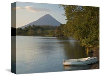Boat on Lago de Nicaragua with Volcan Concepcion in Distance, Isla de Ometepe, Rivas, Nicaragua