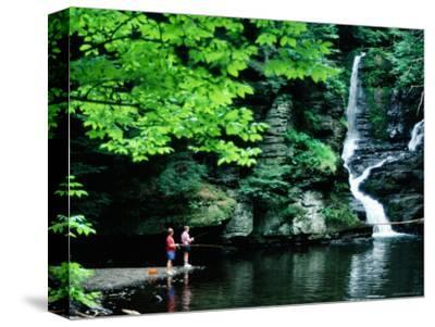 Boys Fishing by Deer Leap Falls, Delaware Water Gap, Pennsylvania