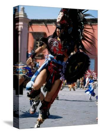 Costumed Dancer, Aztec Festival, Cristo de la Conquista, San Miguel de Allende, Guanajuato, Mexico