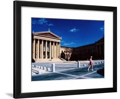 Runner Outside Philadelphia Museum of Art, Philadelphia, Pennsylvania
