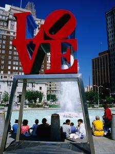Sculpture in Love Park, Philadelphia, Pennsylvania by Margie Politzer