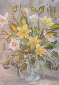 Bunch of daffodils, 2000 by Margo Starkey