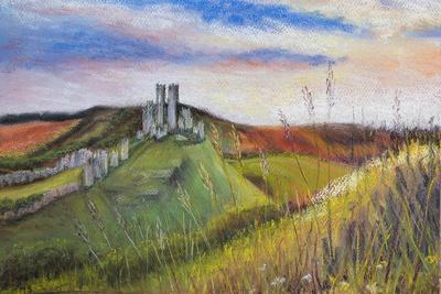 Corfe Castle,  pastel