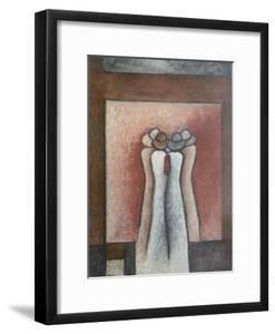 Whispering Ladies,  pastel by Margo Starkey