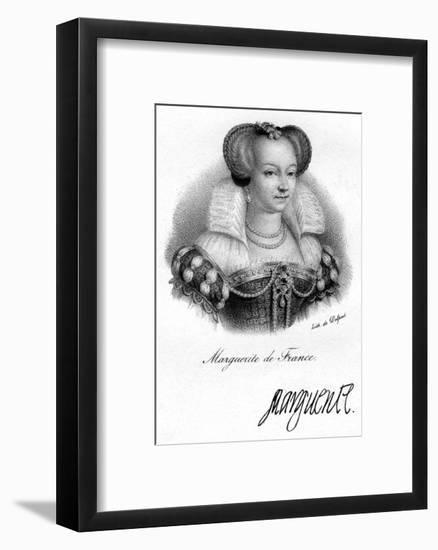 Marguerite of France- Delpech-Framed Giclee Print