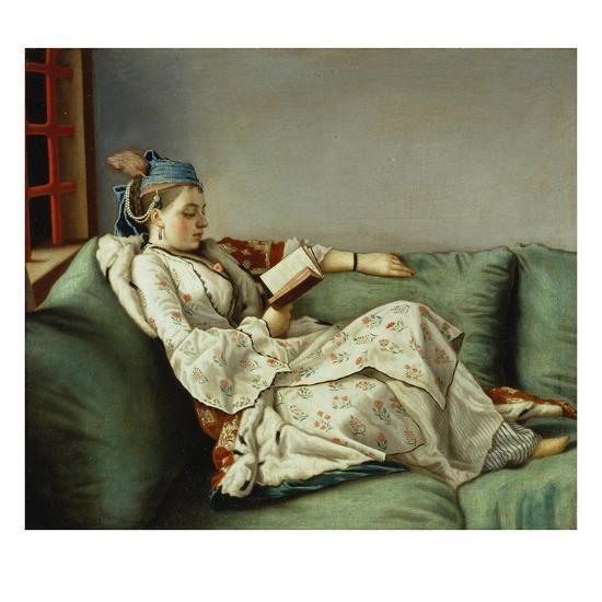 Maria Adelaide Reading-Jean-Etienne Liotard-Giclee Print
