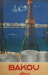 Baku (Poster of the Intourist Compan), 1936 by Maria Alexandrovna Nesterova-Berzina