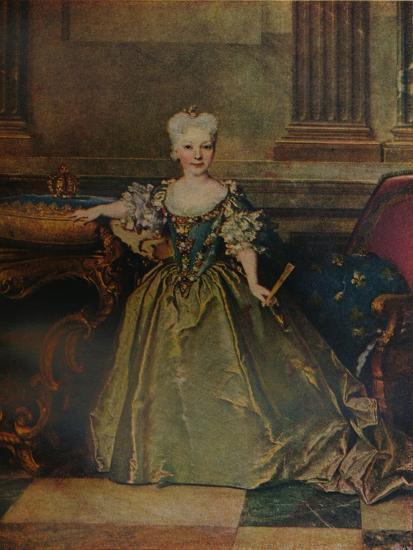 'Maria Ana Victoria de Borbon y Farnesio', 1724 (c1927)-Nicolas de Largilliere-Giclee Print