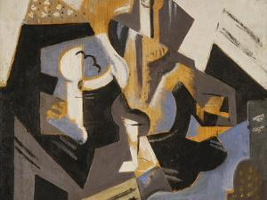Cubist Still Life in Blue and Grey; Nature Morte Cubiste Bleu Gris by Maria Blanchard