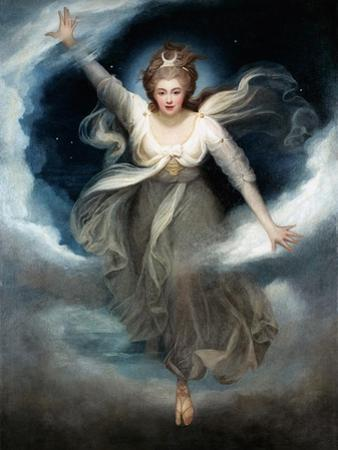 Georgiana as Cynthia from Spenser's 'Faerie Queene', 1781-82 by Maria Cosway