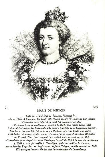 Maria Di Medici, Frau Heinrich Des IV--Giclee Print