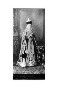 Maria Feodorovna Wearing Traditional Russian Dress, C.1860s