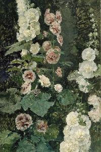 Hollyhocks, 1872 by Marià Fortuny