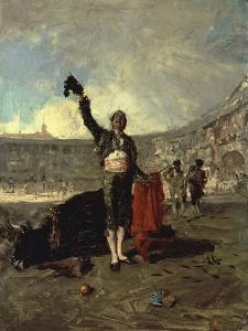 The Bull-Fighters Salute, 1869 by Maria Fortuny