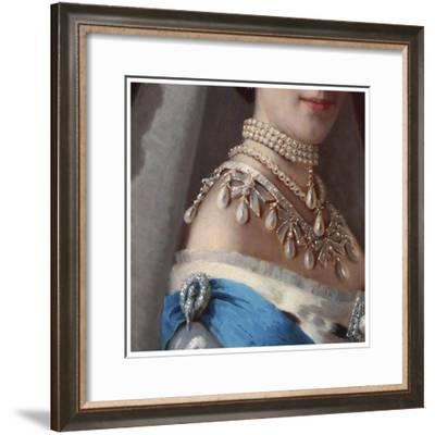 Maria Fyodorovna (Kramskoj 1880s)-Vintage Lavoie-Framed Giclee Print