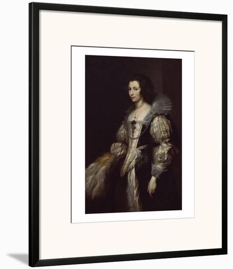 Maria Louisa de Tassis-Sir Anthony Van Dyck-Framed Giclee Print
