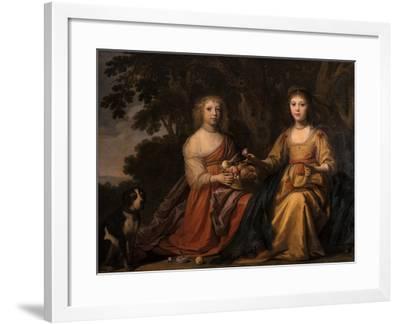 Maria Magdalena and Charlotta Elisabetha, Princesses of Nassau-Willem van Honthorst-Framed Giclee Print