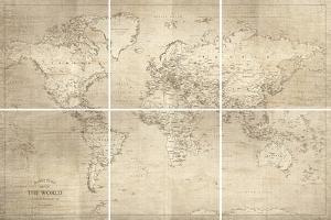 Hamilton'S World Map by Maria Mendez