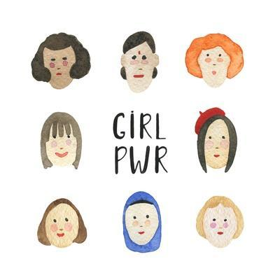 Girl Pwr - Set of Faces