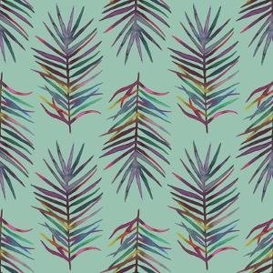 Tropical Palm Leaf Pattern by Maria Mirnaya