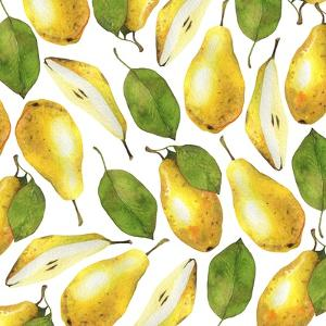 Yellow Pears - Botanical Illustration by Maria Mirnaya