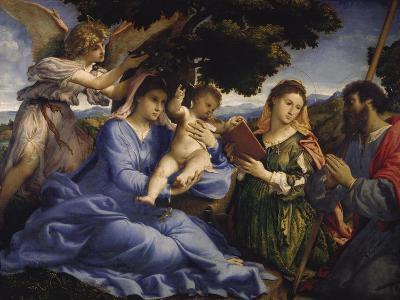 Maria Mit dem Kind Und Den Hll.Katharina Und James the Greater, um 1533-Lorenzo Lotto-Giclee Print