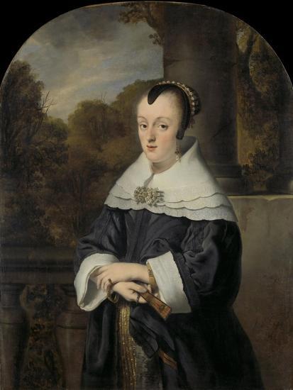 Maria Rey. Wife of Roelof Meulenaer-Ferdinand Bol-Art Print