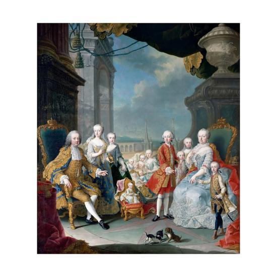 Maria Theresia of Austria and Francis I with their Children-Martin Van Meytens, the Younger-Giclee Print