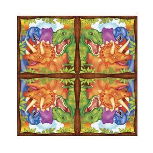 Dinosaur Napkin by Maria Trad