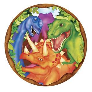Dinosaur Plate 2 by Maria Trad