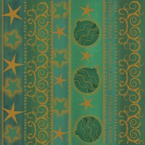 Gold Stars Green by Maria Trad