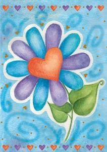 Heart Flower by Maria Trad