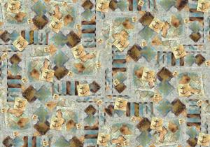 Square Design with Anchor by Maria Trad
